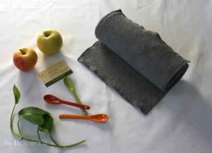 essuie-tout lavable gris
