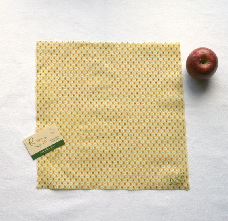 film alimentaire lavable bio la cire d 39 abeille 36 x 36. Black Bedroom Furniture Sets. Home Design Ideas