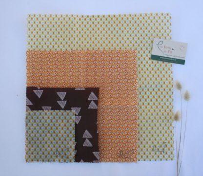 Films alimentaires lavables bio à la cire d'abeille