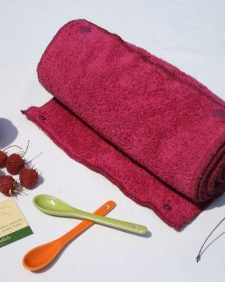 essuie-tout lavable framboise