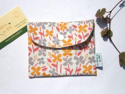 pochette à savon bio et imperméable - jardin africain